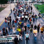 Marcha antigasolinazo en Monterrey